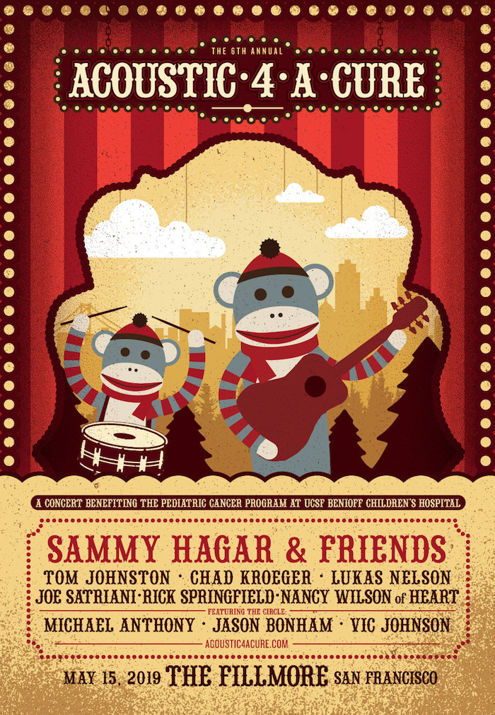 Acoustic-4-A-Cure VI 5/15/19 @ The Fillmore - Sammy Hagar